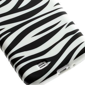 Gelové pouzdro pro Samsung Galaxy S4 i9500- zebra - 5