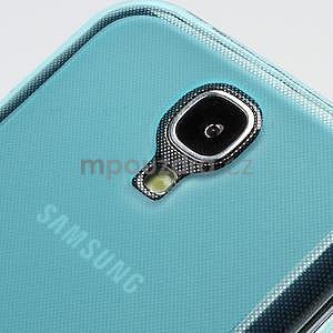 Gelové matné pouzdro na Samsung Galaxy S4 i9500- modré - 5