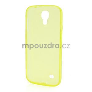 Gelové slim pouzdro na Samsung Galaxy S4 i9500- žluté - 5