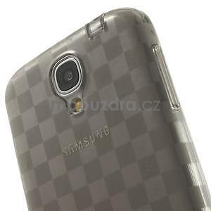 Gelové kosočvercové pouzdro na Samsung Galaxy S4 i9500- šedé - 5