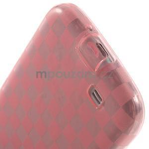 Gelpvé kosočvercové pouzdro na Samsung Galaxy S4 i9500- růžové - 5