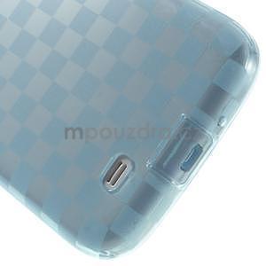 Gelové kosočvercové pouzdro na Samsung Galaxy S4 i9500- modré - 5