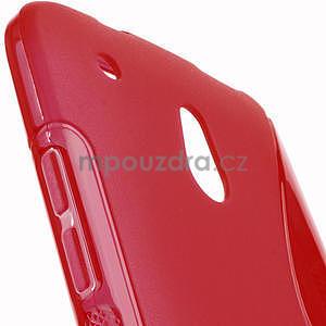 Gelové S-line pouzdro pro HTC one Mini M4- červené - 5