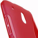 Gelové S-line pouzdro pro HTC one Mini M4- červené - 5/5