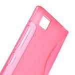 Gelové S-line pouzdro na Xiaomi Mi3- růžové - 5/5