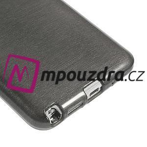 Gelové kartáčované pouzdro na Samsung Galaxy Note 3 Neo - černé - 5