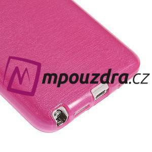 Gelové kartáčované pouzdro na Samsung Galaxy Note 3 Neo - růžové - 5