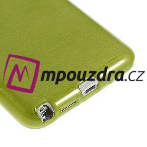 Gelové kartáčované pouzdro na Samsung Galaxy Note 3 Neo - zelené - 5