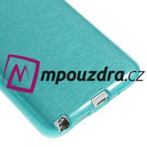 Gelové kartáčované pouzdro na Samsung Galaxy Note 3 Neo - modré - 5
