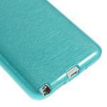 Gelové kartáčované pouzdro na Samsung Galaxy Note 3 Neo - modré - 5/5