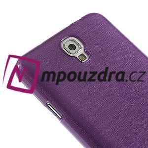Gelové kartáčované pouzdro na Samsung Galaxy Note 3 Neo - fialové - 5