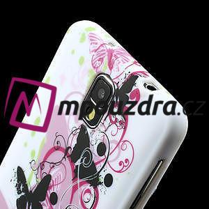 Gelové pouzdro na Samsung Galaxy Note 3- květinka motýl - 5