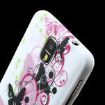 Gelové pouzdro na Samsung Galaxy Note 3- květinka motýl - 5/6