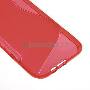 Gelové S-line pouzdro pro HTC one M8- červené - 5