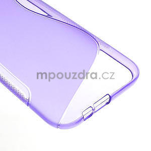 Gelové S-line pouzdro pro HTC one M8- fialové - 5