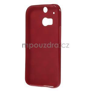 Gelové-PUNTÍKY pouzdro pro HTC one M8- červené - 5