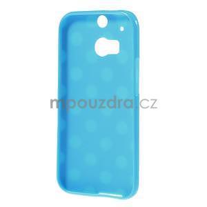 Gelové-PUNTÍKY pouzdro pro HTC one M8- modré - 5