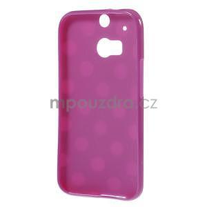 Gelové-PUNTÍKY pouzdro pro HTC one M8- fialové - 5