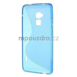 Gelové S-line pouzdro pro HTC one Max-modré - 5