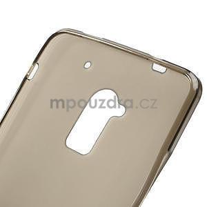 Gelové matné pouzdro pro HTC one Max- šedá - 5