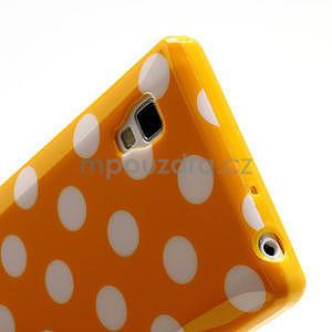 Gelové PUNTÍK pouzdro pro LG Optimus L9 P760- oranžové - 5