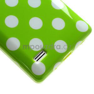 Gelové PUNTÍK pouzdro pro LG Optimus L9 P760- zelené - 5