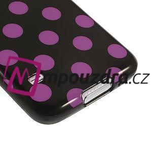 Gelové puntíkaté pouzdro na Samsung Galaxy S5- černofialové - 5