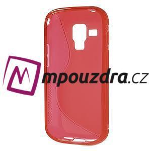 Gelové S-line pouzdro pro Samsung Trend plus, S duos- červené - 5