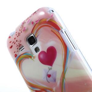 Gelové pouzdro na Samsung Galaxy Trend, Duos- labutí srdce - 5