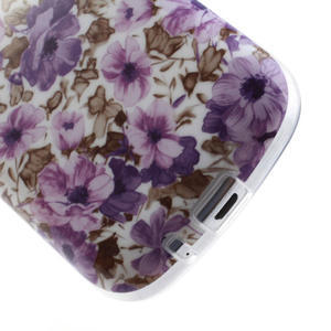 Gelové pouzdro na Samsung Galaxy Trend, Duos- fialové květy - 5