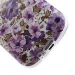 Gelové pouzdro na Samsung Galaxy Trend, Duos- fialové květy - 5/6