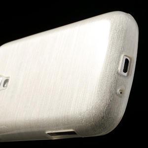 Kartáčované pouzdro na Samsung Galaxy Trend, Duos- bílé - 5