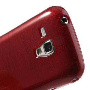 Kartáčované pouzdro na Samsung Galaxy Trend, Duos- červené - 5
