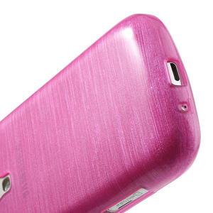 Kartáčované pouzdro na Samsung Galaxy Trend, Duos- růžové - 5