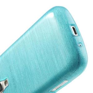 Kartáčované pouzdro na Samsung Galaxy Trend, Duos- modré - 5