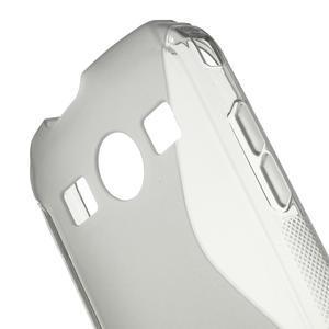 Gelové S-line pouzdro na Samsung Galaxy Xcover 2 S7710- šedé - 5