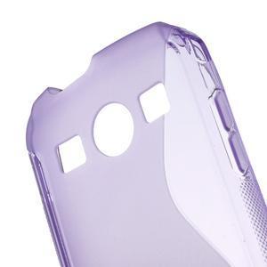 Gelové S-line pouzdro na Samsung Galaxy Xcover 2 S7710- fialové - 5