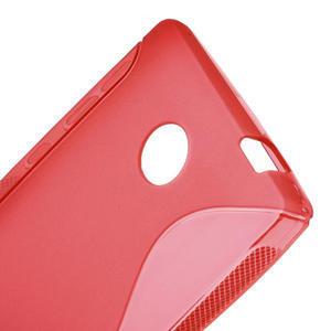 Gelové S-line pouzdro na Nokia X dual- červené - 5