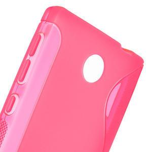 Gelové S-line pouzdro na Nokia X dual- růžové - 5