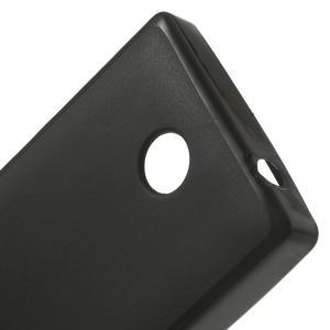 Gelové matné pouzdro na Nokia X dual-černé - 5