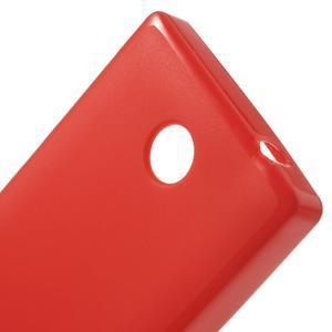 Gelové matné pouzdro na Nokia X dual- červené - 5