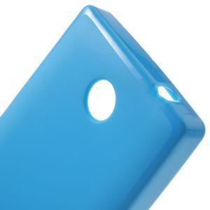 Gelové matné pouzdro na Nokia X dual- modré - 5