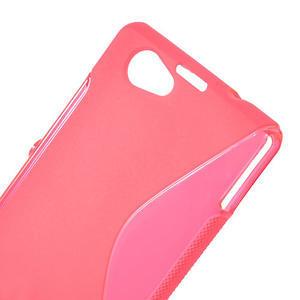 Gelové S-line pouzdro na Sony Xperia Z1 Compact D5503- růžové - 5