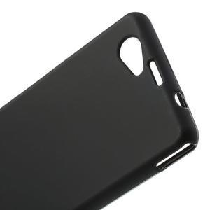 Gelové matné  pouzdro na Sony Xperia Z1 Compact D5503- černé - 5