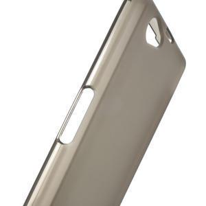 Gelové matné  pouzdro na Sony Xperia Z1 Compact D5503- šedé - 5