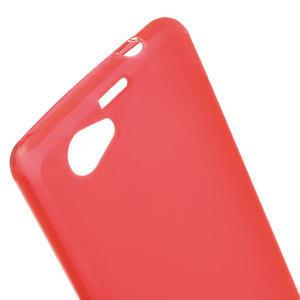 Gelové matné  pouzdro na Sony Xperia Z1 Compact D5503- červené - 5