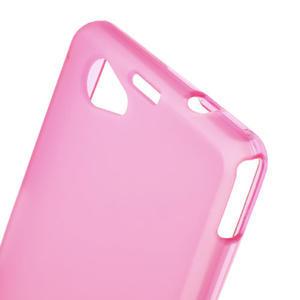 Gelové matné pouzdro na Sony Xperia Z1 Compact D5503- růžové - 5