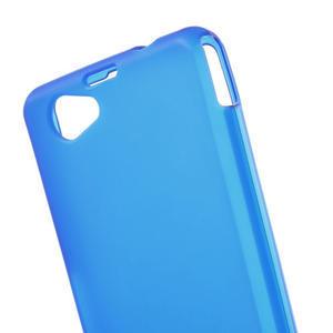 Gelové matné  pouzdro na Sony Xperia Z1 Compact D5503- modré - 5