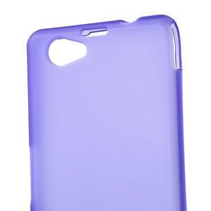 Gelové matné pouzdro na Sony Xperia Z1 Compact D5503- fialové - 5