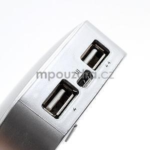 Stylová externí nabíječka power bank 6 000 mAh - stříbrná - 5